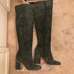 Franco Sarto Suede Over the Knee Boots